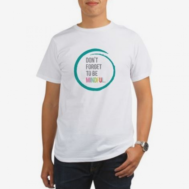 white shirt with quote